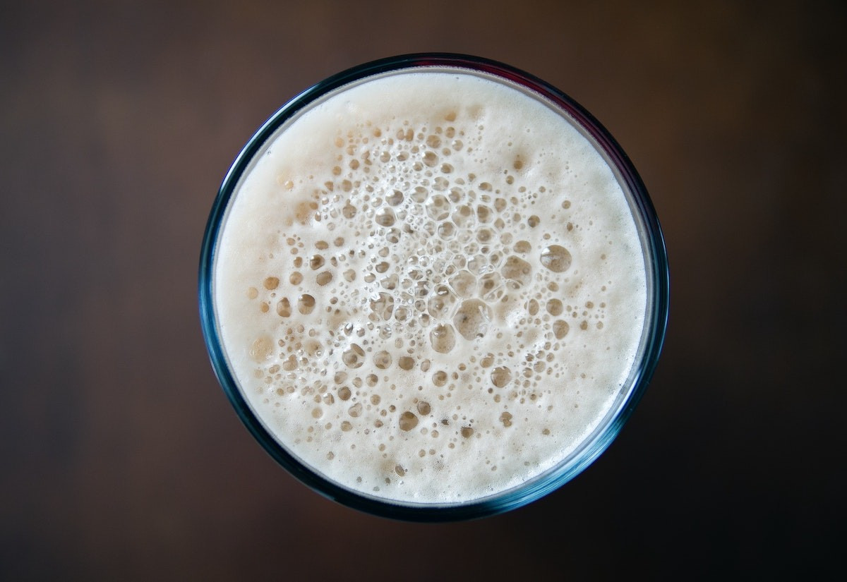Beer Glass Foam